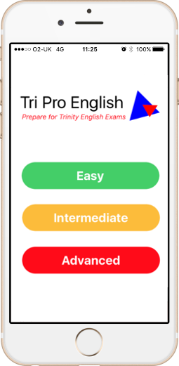 Tri Pro App for Trinity ISE English exams